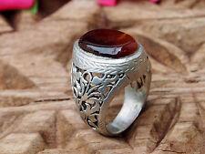 orient silber Afghanistan Turkmen Karneol  statement Carnelian aqeeq ring Nr:444