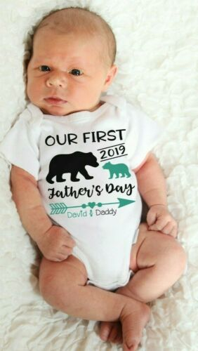 Personalized First fathers day shirt for baby custom 1st fathers day gift daddy