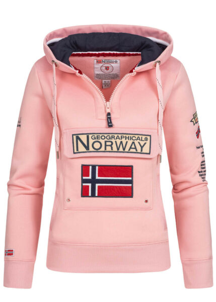 WR635F/GN Geographical Norway Damen Gymclass Hoodie Chest Pocket Sweater Kapuze