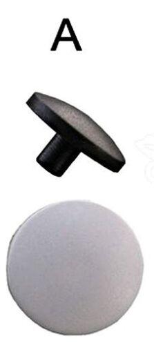 STAYPUT 100 Stück weiß Press Clip Druckknöpfe aus Kunststoff Deckel