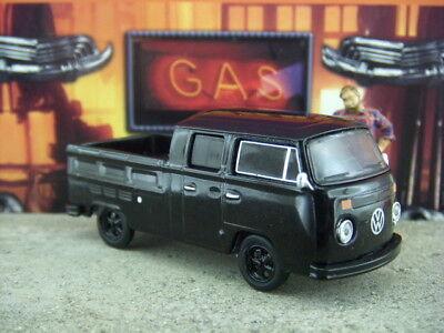 1978 VOLKSWAGEN TYPE 2 BUS BLACK BANDIT 1//64 DIECAST MODEL BY GREENLIGHT 27840 C