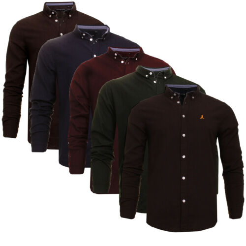 Brave Soul Mens Stylish Brushed Cotton Designer Casual Long Sleeve Shirt