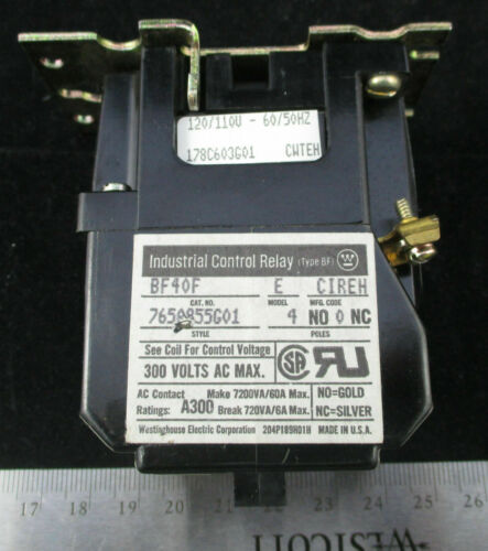 WESTINGHOUSE Industrial Control Relay BF40F