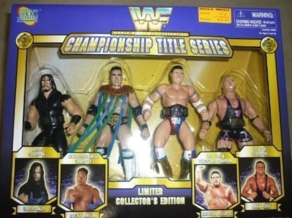 WWF Championship Title Series Limited Collector's Edition Undertaker etc. Rare