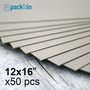 12x16-034-Backing-Boards-50-sheets-700gsm-chipboard-boxboard-cardboard-recycled