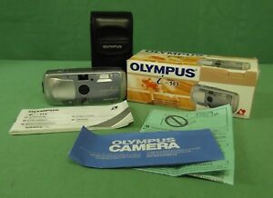 OLYMPUS-I-10-APS-FILM-CAMERA-WITH-24MM-LENS-WITH-CASE-amp-ORIGINAL-PACKAGING