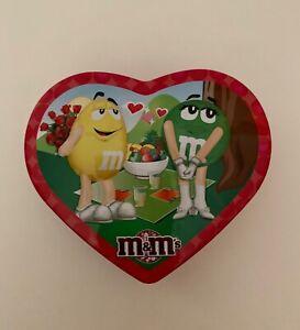 M&m 's Valentine heart tin box Récipient Mars Inc. 2010 excellent état