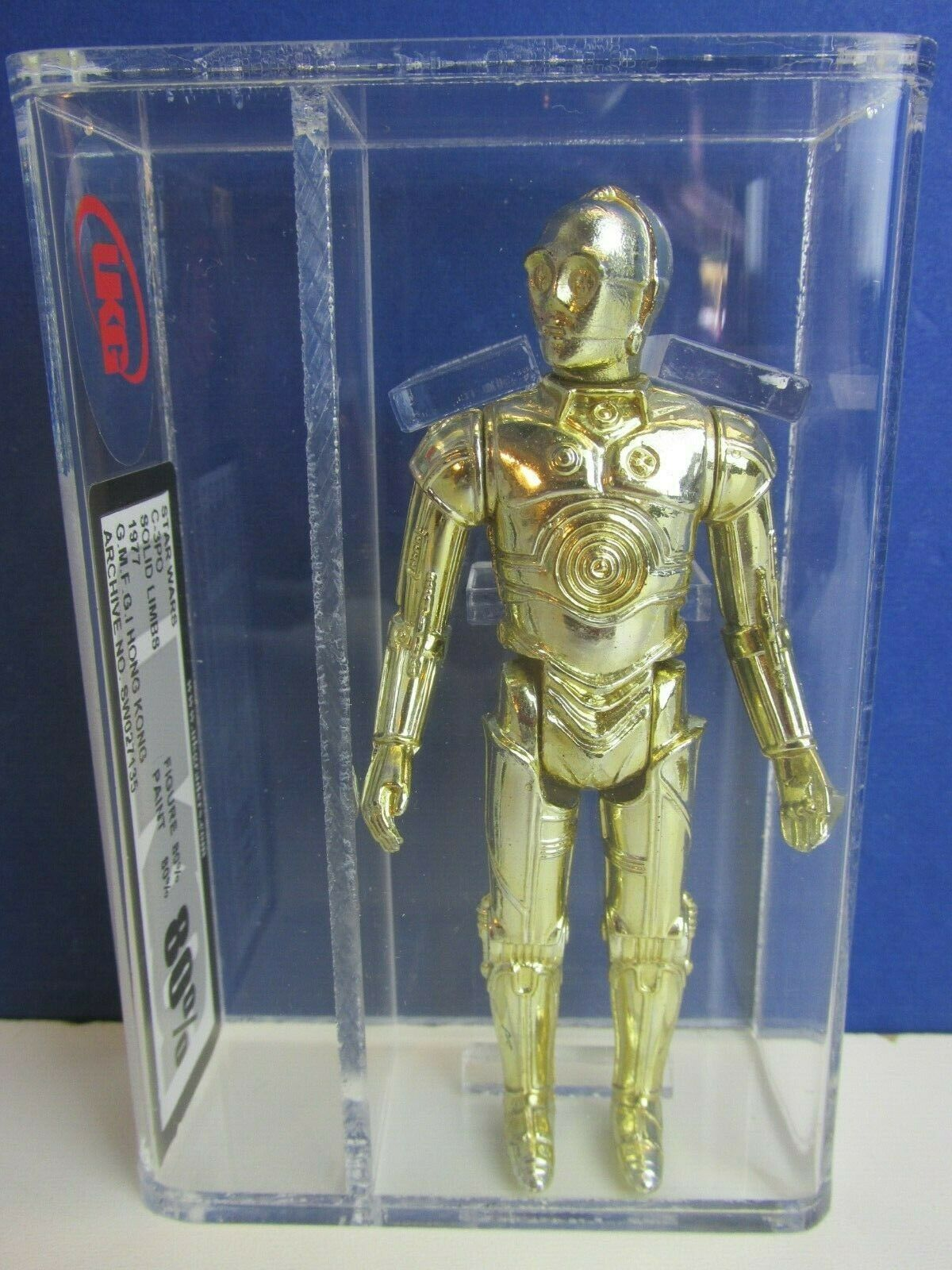 Vintage  star wars C-3PO ACTION FIGURE 1977 solid limbs UKG not AFA kenner  aucune hésitation! achetez maintenant!