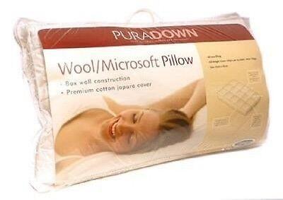 Puradown Wool//Polyester Microsoft Chamber Standard Size Pillow RRP $109