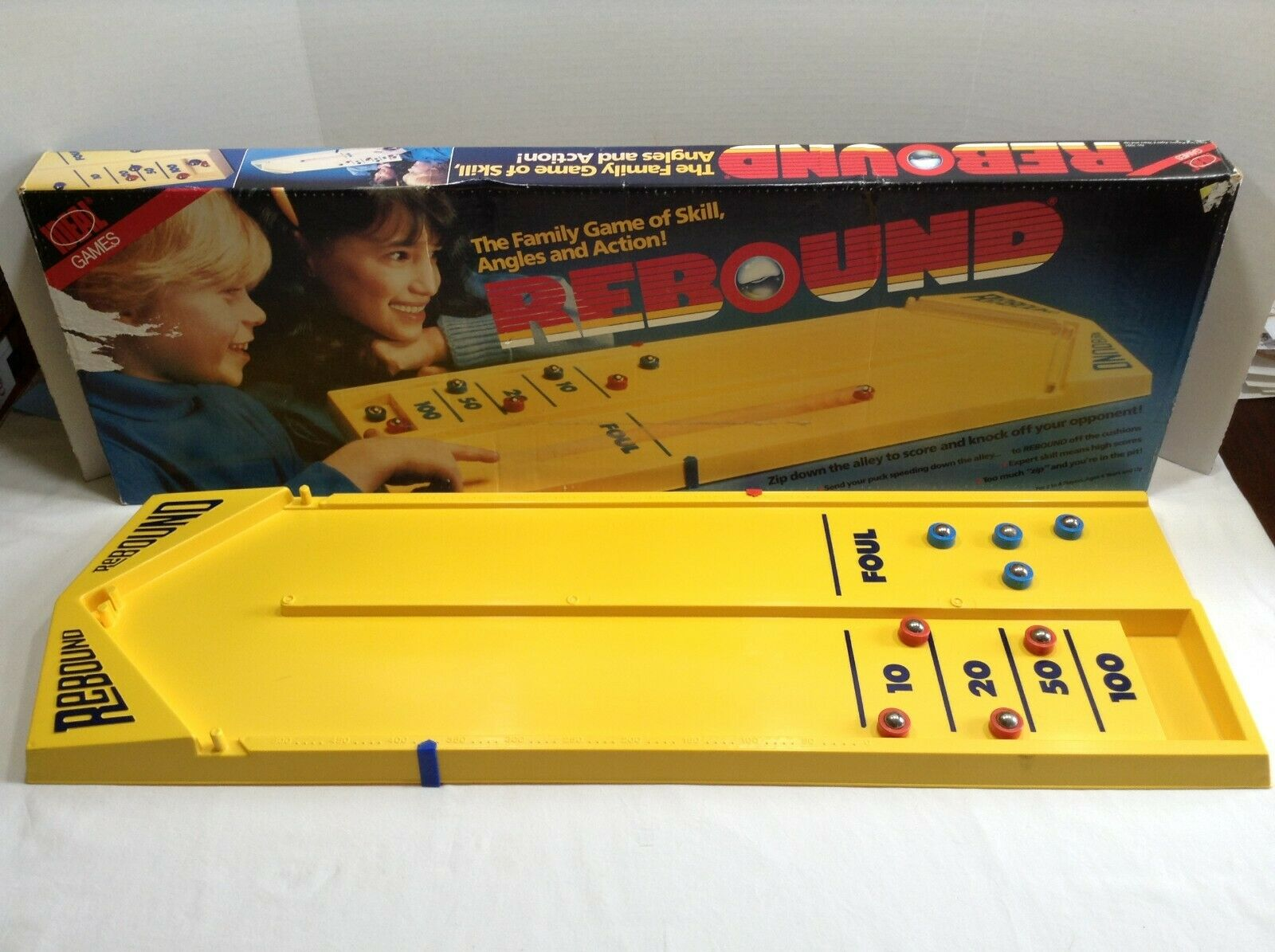 Rebound Vintage 1986 Edition By Ideal-Missing Marbles-Skill-Angles-Action