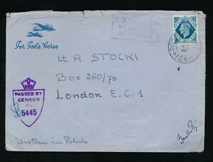 GB KG6 1943 10d SOLO FRANKING POLAND FPO 126 AIRMAIL CENSORED