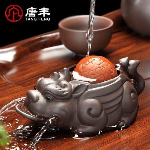 Handmade Brave Lucky Toad Boutique Tea Accessory Creative Small Ornament Tea Pet