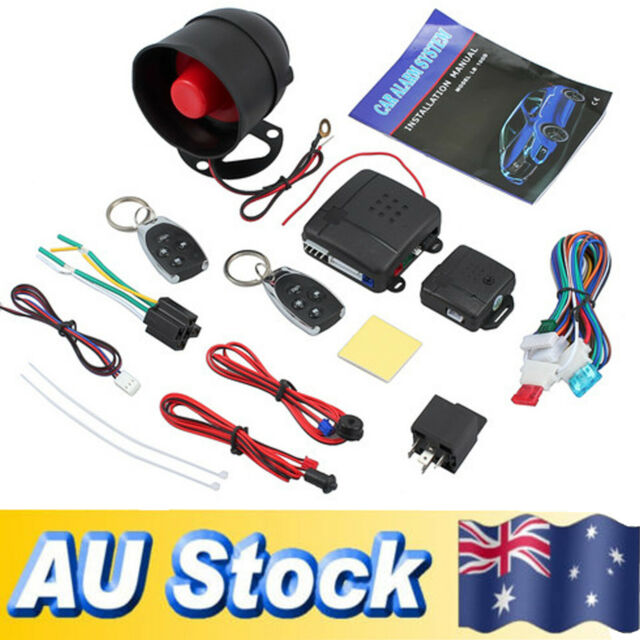Universal 1 way Car Alarm Security Central Lock System + Shock Sensor + 2 Remote