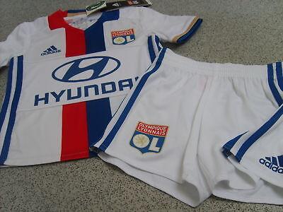 Originale Adidas Olympique Lyon Unisex Kids Home Kit 2016/17 (shirt & Pantaloncini)-mostra Il Titolo Originale