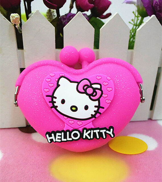 HelloKitty Silicone Coin Purse Wallet Pouch Case Clutch Key Wallet AA-0683A7