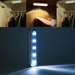 5-LED-Touch-Press-Battery-Stick-On-Wall-Lamp-Under-Cabinet-Cupboard-Night-Light