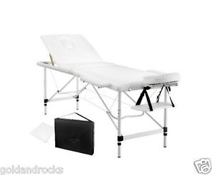 NEW-Portable-Aluminium-Massage-Table-3-Fold-Beauty-Bed-Therapy-Waxing-White