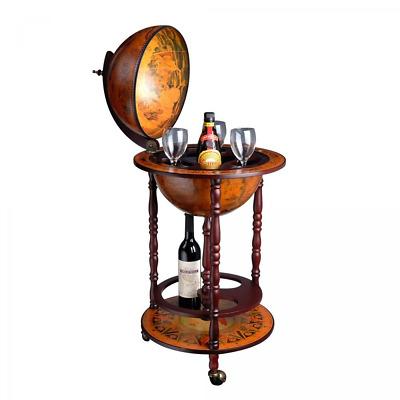 Kitchen Dining Bar Bar Globe Old World Italian Wine Liquor Cabinet Storage Style Mini Stand New Map Rudisbakery Com