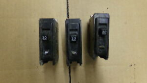 Westinghouse-Circuit-Breaker-Quicklag-B-1-Pole-20A-Lot-of-3-FREE-SHIPPING