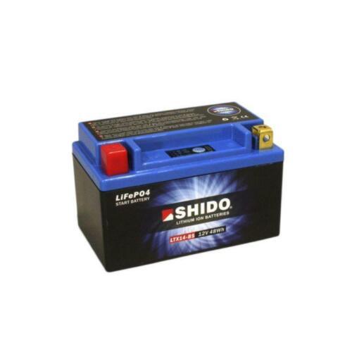 Shido Lithium Battery YTX14-BS to fit KAWASAKI ZZR 1100 1993-2001