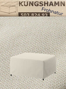 Ikea KUNGSHAMN Bezug für Hocker Idekulla beige NEU OVP 503.824.93 Wechselbezug