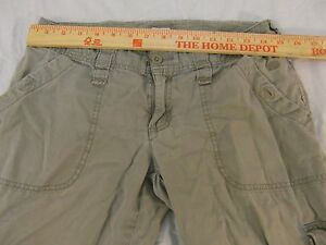 Womens-The-North-Face-Beige-Zipper-Fly-6-Casual-Cargo-Hiking-Pants