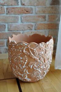 Designer Blumentopf Topf Vase Übertopf Vase Blumentöpfe Vasen Neu Hand bemalt