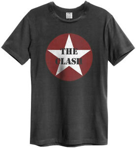 The-Clash-039-Star-Logo-039-Charcoal-T-Shirt-Amplified-Clothing-NEW-amp-OFFICIAL