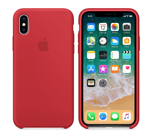 RED-GENUINE-ORIGINAL-Apple-Silicone-Case-NEW-iPhone-X-REAL-RETAIL-PRICE-39