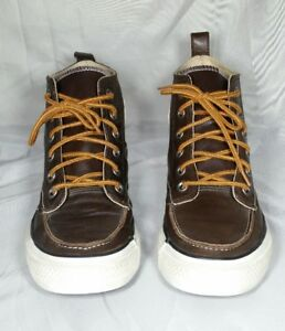 ffbb2bddfe70 Converse Chuck Taylor All Star Hiker High Tops Brown Leather 125651c ...