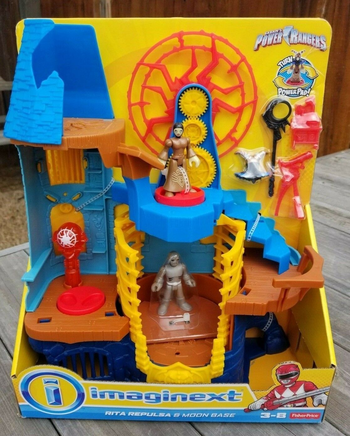 Imaginext Power Rangers Rita Repulsa /& Moon Base Playset