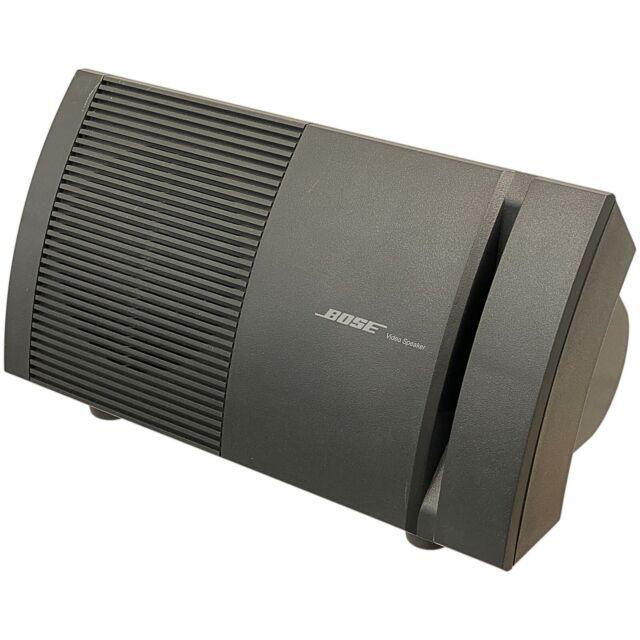 Bose Stereo Video Loud Speaker Single Wall Mountable Desktop Audio Box Sub V-100