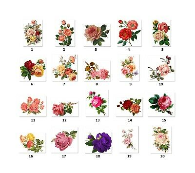 R2 30 Personalized Roses Return Address  labels Buy 3 get 1 free