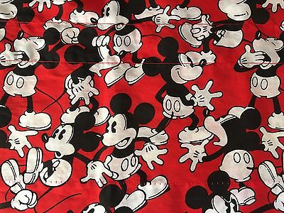 Vtg Walt Disney Mickey VALANCE Fabric Classic Retro Red Black White 76 x 17