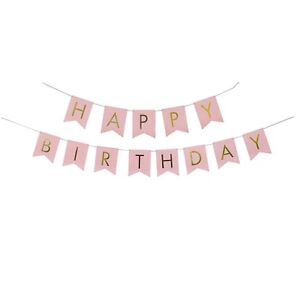 Pastel-Pink-Perfection-and-Gold-Foiled-Happy-Birthday-Bunting-Banner-Party
