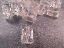 Rock Crystal Carved Mini Owl Beads 5pcs