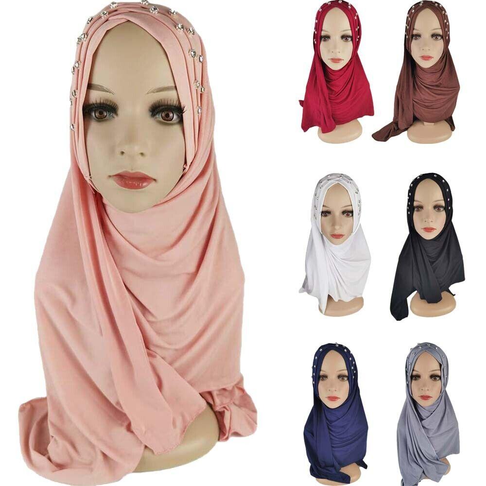 Khimar Hijab Muslim Women Long Scarf Headwrap Turban Hat Islamic Prayer Shawls