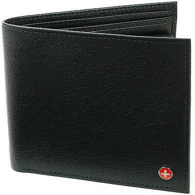 Alpine Swiss Passcase Bifold Wallet Removable Card Case Oversized Real Leather