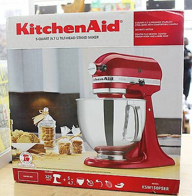 Kitchenaid KSM150PSER 5 Quart Tilt Head Stand Mixer Empire Red NEW