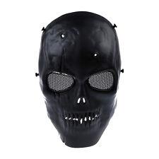 Airsoft Mask Skull Full Protective Mask Military - Black DT