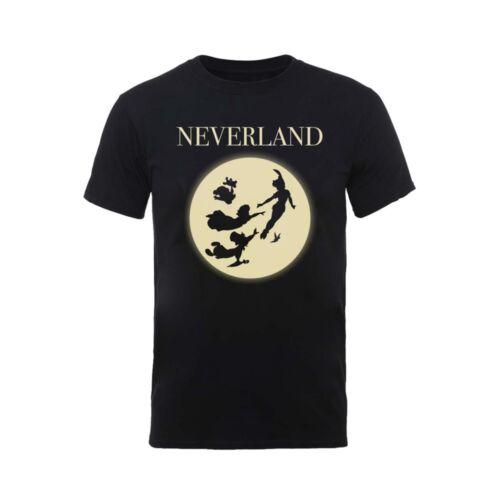 Peter Pan Neverland Moon Silhouette Official Disney Tinkerbell Grey Mens T-shirt