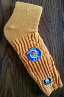 Vintage 1980's Yellow 18 Inch Slouch Socks Old Cotton Label Vtg.