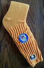NEW VINTAGE 1980's YELLOW 18 INCH SLOUCH SOCKS OLD COTTON LABEL VTG.