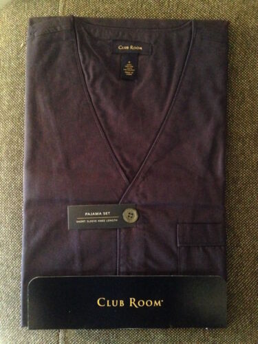 Navy In Club manica Set a Camicia uomo corta Room Solid in da da uomo stock 874979002934 pajama 6XxqROwq