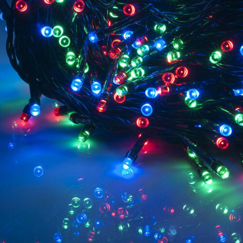 100 LED Solar Powered Garden Party Xmas String Fairy Lights Indoor Outdoor Lamp