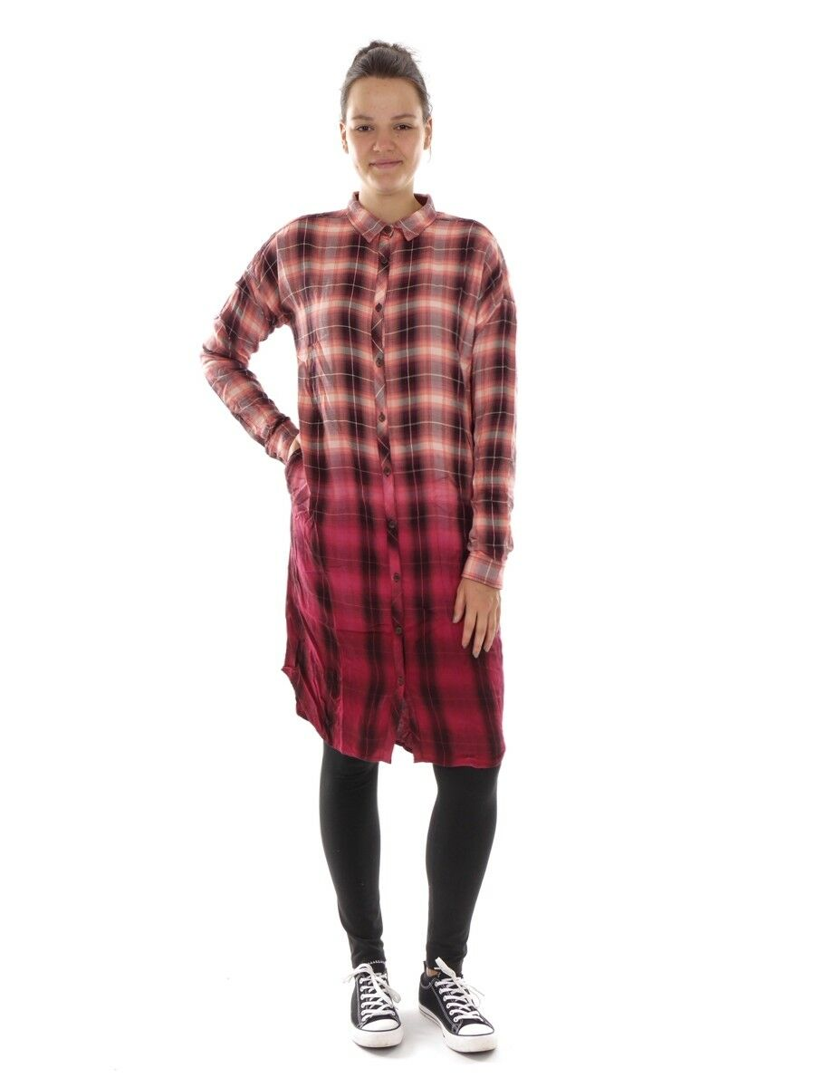 O'Neill Dress Plaid Dress Casual Dress orange Crystal Bay Kent Collar