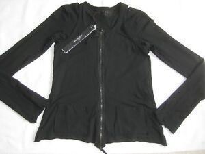 Nasa Nwt Rundholz Jacket Two Black £329 Zip Top layer Cotton Dip Xs wOq6COE