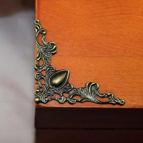 12//24Pcs Metal Book Scrapbooking Album Folders Decor Carved Corner Protectors