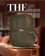 Caden N5 Canvas Retro Shoulder DSLR Camera Lens Tripod Travel Backpack Bag Case
