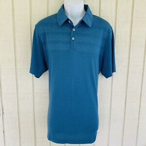 adidas Mens ClimaCool Bodymap Performance Golf Polo Shirt Large Corblu Blue NWT
